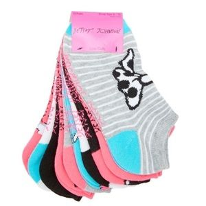 Betsey Johnson Accessories - Betsey Johnson 10 Pack Low Cut Socks NWT Bows